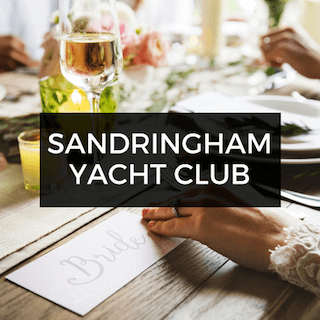 Sandringham Yacht Club Wedding